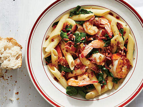 Bacon and Shrimp Pasta Toss