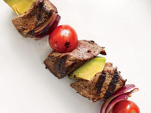 Steak and Avocado Kebabs
