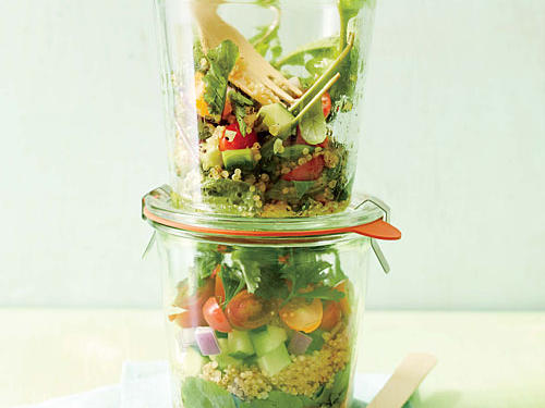 Quinoa-Arugula Layered Salad