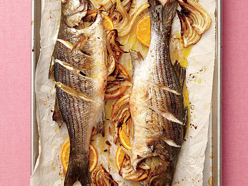 1408 Roasted Orange-Fennel Striped Bass
