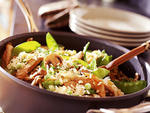 Snow Pea-and-Pork Fried Rice