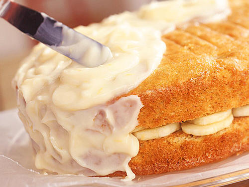 Banana Layer Cake with Lemon-Cream Cheese Frosting