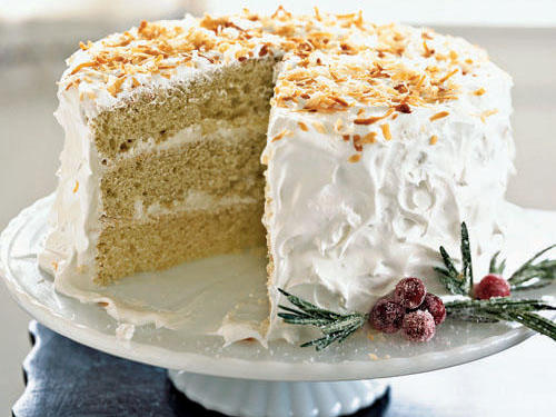 Coconut Cake with Buttercream Frosting Recipes