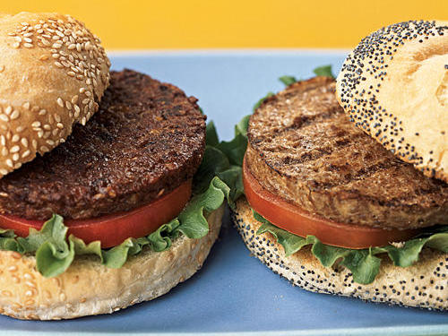 Black Bean Burger and Soybean Burger