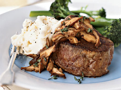 The deep, earthy taste of shiitakes makes for an excellent sauce that compliments the meaty, flavorful beef for a satisfying dinner all around.