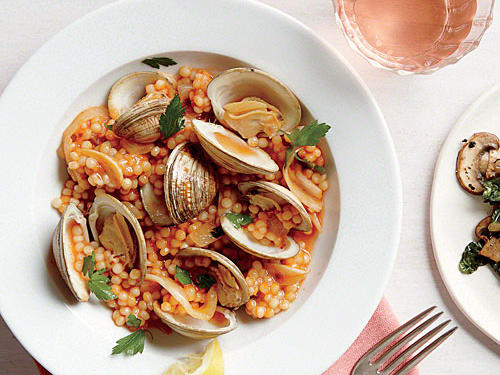 Clams with Israeli Couscous
