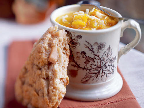 Dried Pear and Cardamom Scones