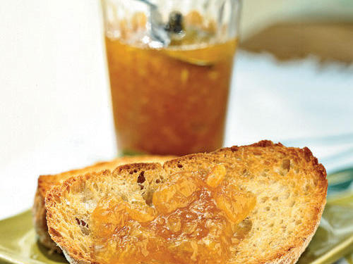 Our feature on Fresh Fruits to Try included this mild marmalade recipe using Uniq fruit (also known as Ugli fruit).