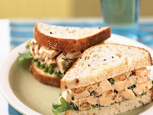 Healthy Rosemary Chicken Salad Sandwiches Recipe