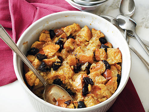Brandied Plum-Vanilla Bread Pudding