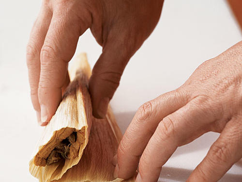 Make Tamales: Fold Husk Again