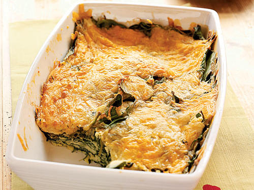 Spinach-Cheese Bake Vegetarian Recipe