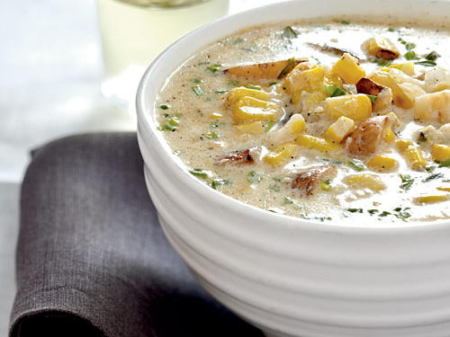 Grilled Corn and Potato Chowder