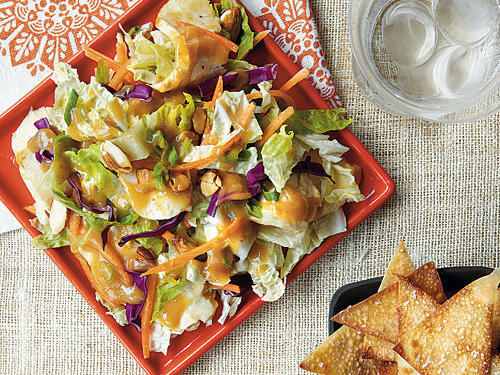 1209 Crunchy Chinese Chicken Salad with Wonton Chips