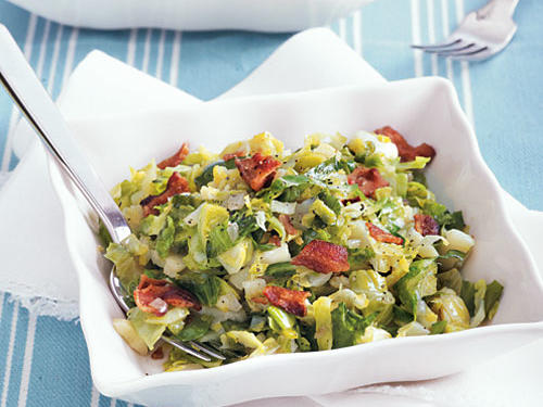 Brussels Sprouts with Crispy Bacon