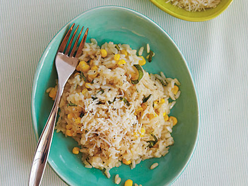 Risotto with Corn and Basil