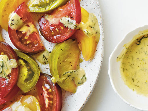 Marinated Heirloom Tomatoes with Mustard and Dill