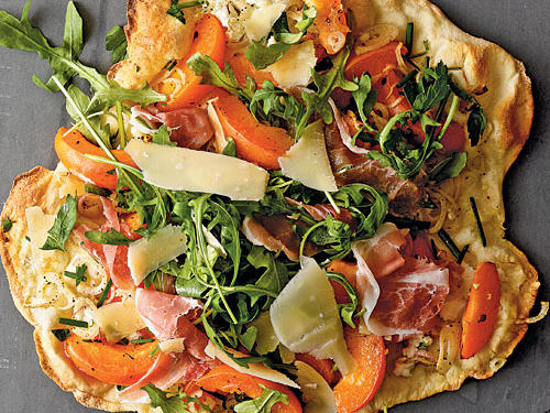 Apricot and Prosciutto Thin-Crust Pizza