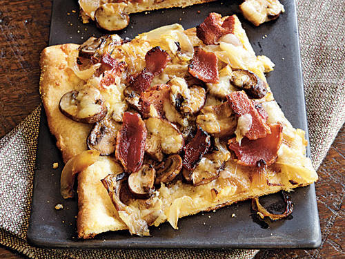 Bacon, Onion, and Mushroom Pizza