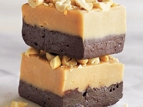 1302-Peanut Butter Dark Chocolate Fudge