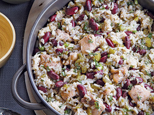Baked Louisiana Dirty Rice and Beans