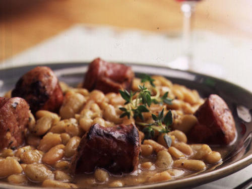 Healthy Tiny French Beans with Smoked Sausage Recipe