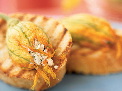 Alaska Recipe: Stuffed Squash Blossom Bruschetta