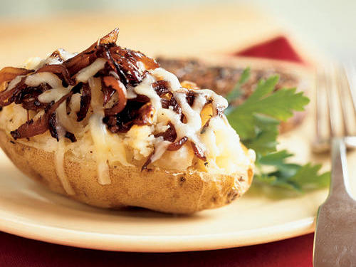 Caramelized Onion-Stuffed Baked Potatoes