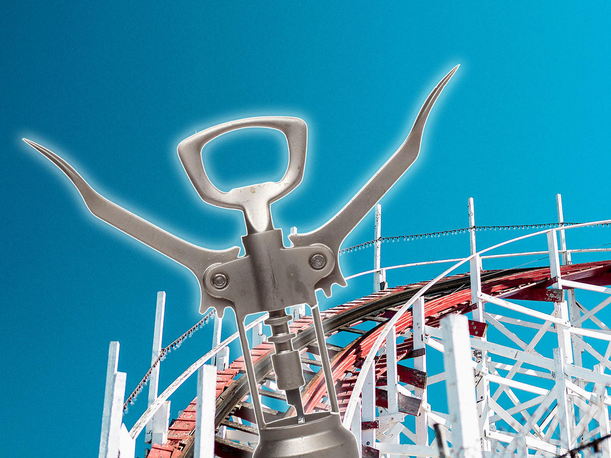 This Wine Opener Riding a Roller Coaster Is the Silliest Thing You'll See All Week