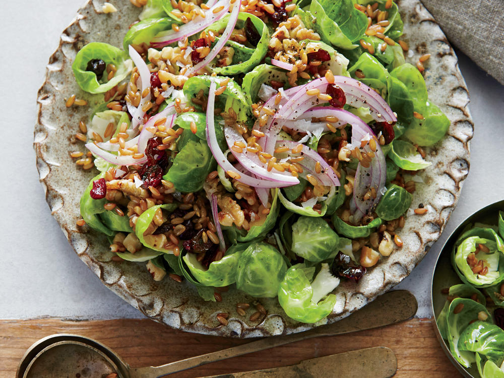 Brussels Sprouts Salad with Pickled Rye Berries