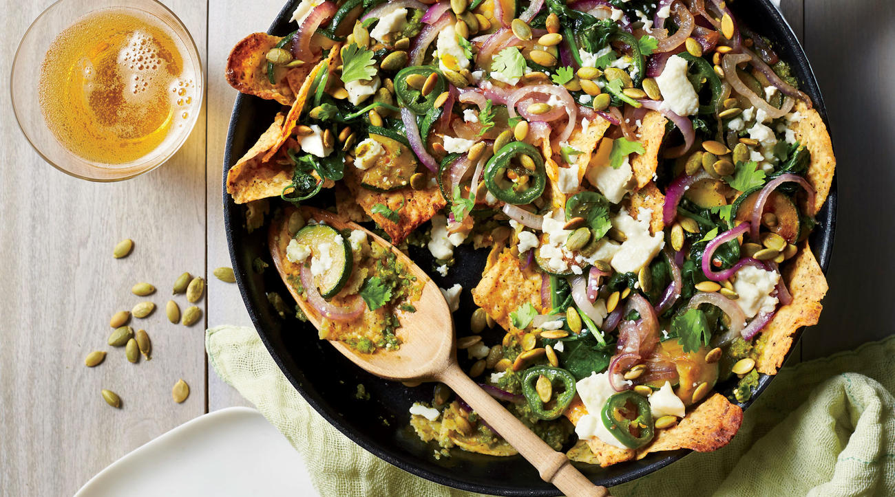 Zucchini and Spinach Chilaquiles