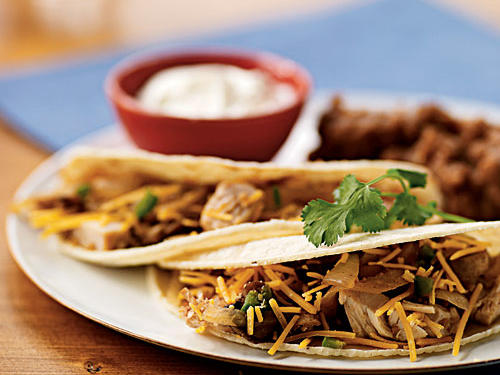 Chicken and Mushroom Tacos recipe
