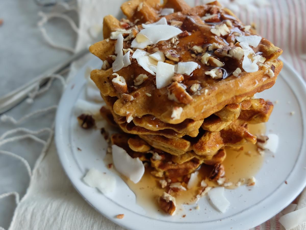 1611w Spiced Sweet Potato Waffles