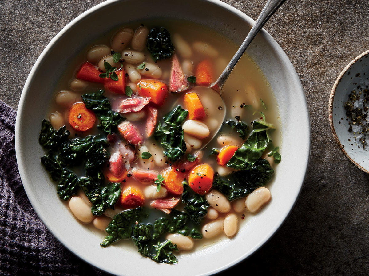 Ham, Kale, and White Bean Soup