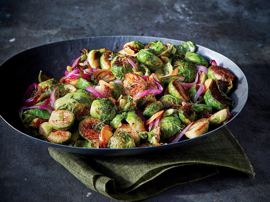 Maple-Caraway Brussels Sprouts