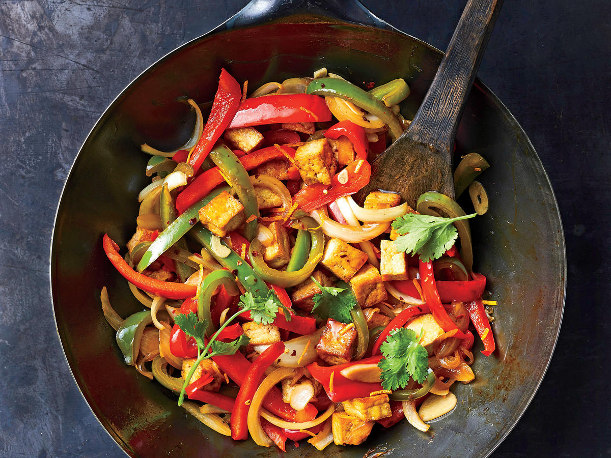 Orange Tofu And Bell Pepper Stir Fry Recipe Cooking Light
