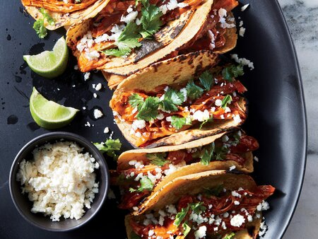 Slow Cooker Chicken Mole Tacos