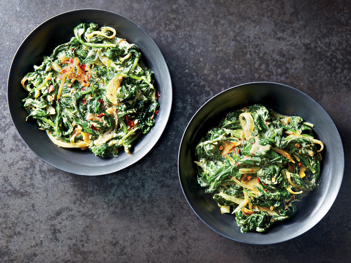 Creamed Curried Spinach