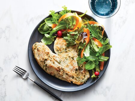 This Broiled Tilapia With Yogurt and Herbs Is Just 182 Calories