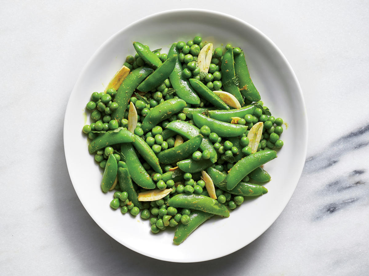 Curried Peas with Mint and Lime