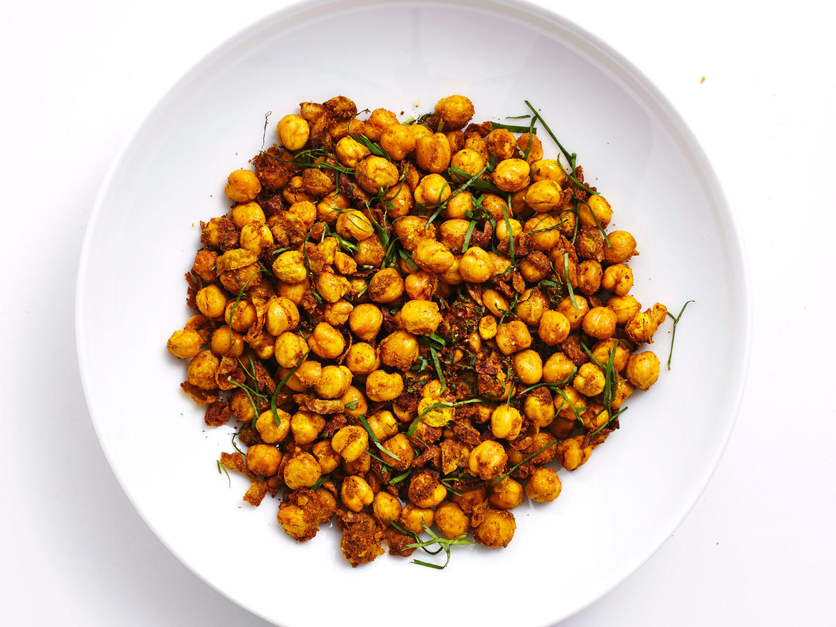 Air-Fried Curry Chickpeas