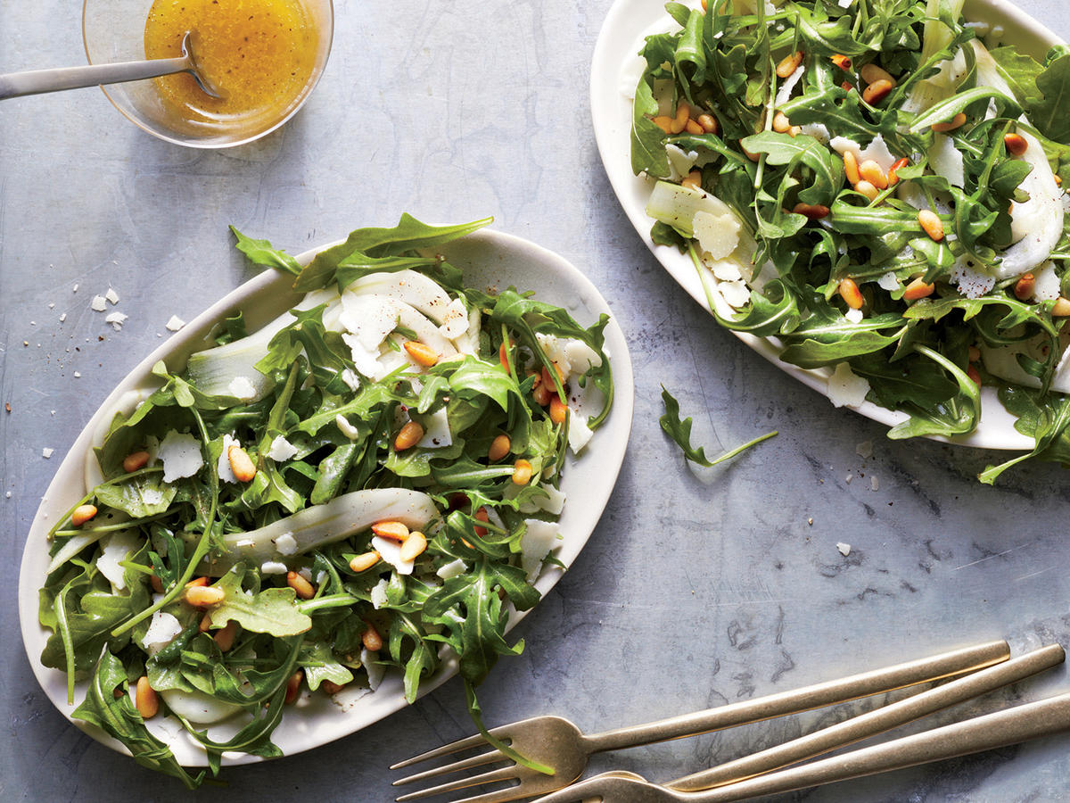 Arugula Salad with Lemon and Pine Nuts