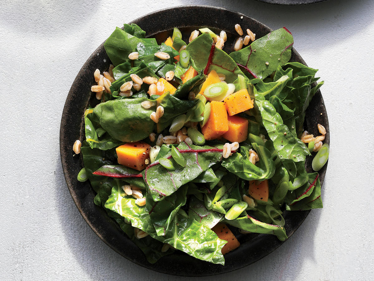 This One Pot Sweet Potato And Chard Salad Couldn T Be Easier Recipe Cooking Light