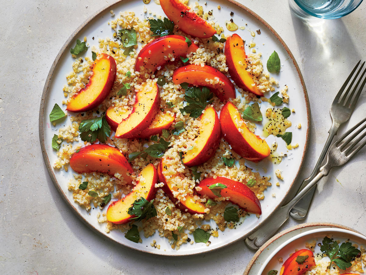 Nectarine and Bulgur Salad