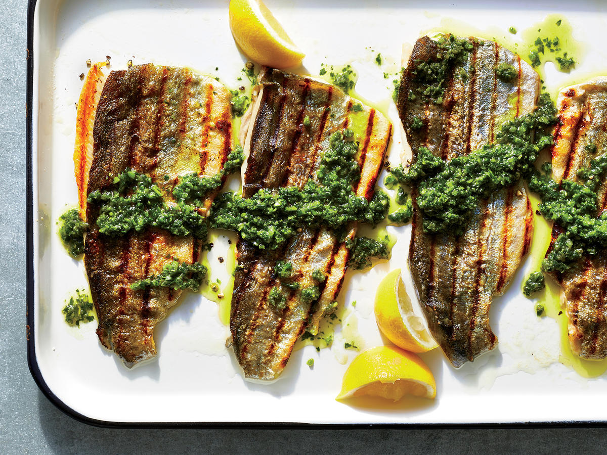 Grilled Rainbow Trout With Chimichurri Recipe Cooking Light