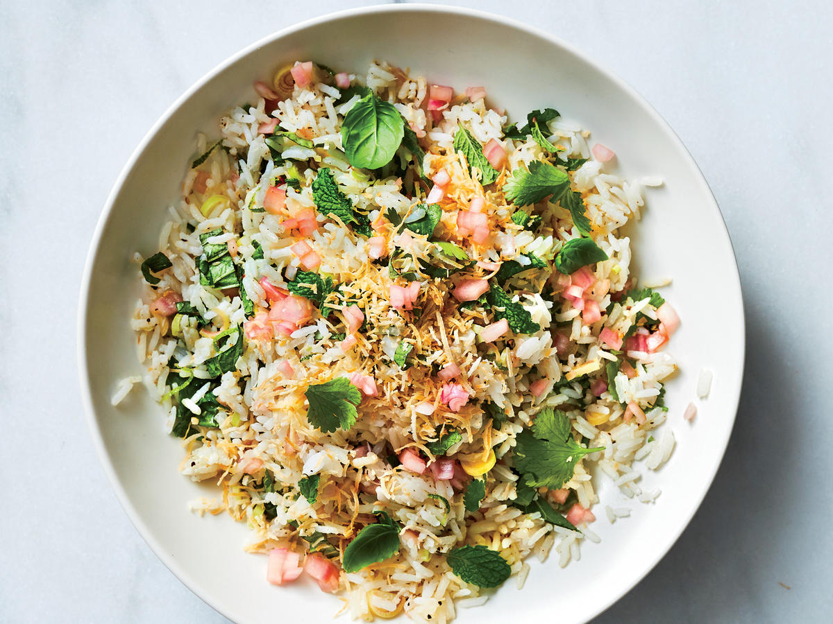 Herb-Scented Rice Salad