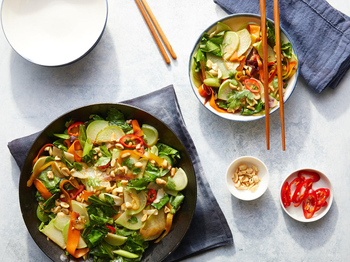 This Thai Style Kohlrabi Stir Fry Is Just 128 Calories Recipe Cooking Light