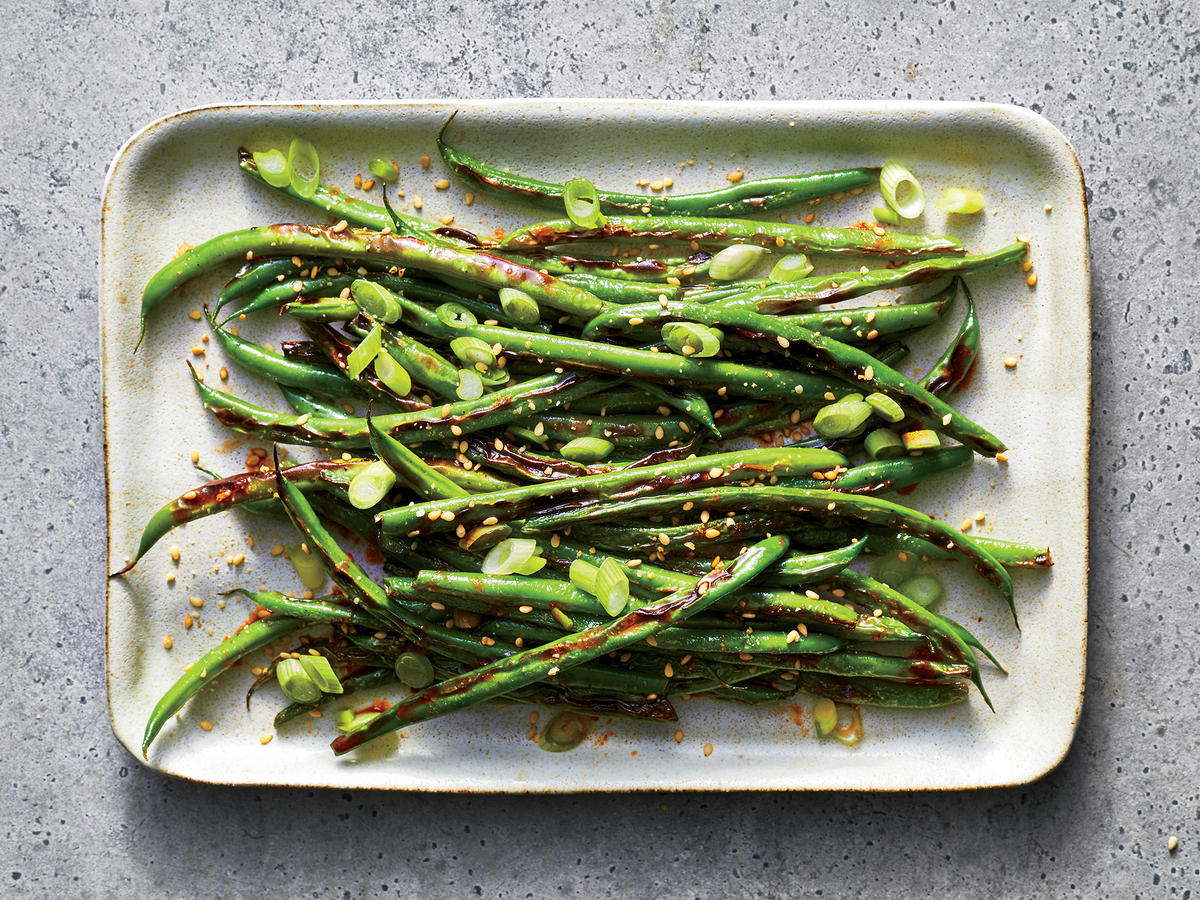 Charred Sesame Green Beans