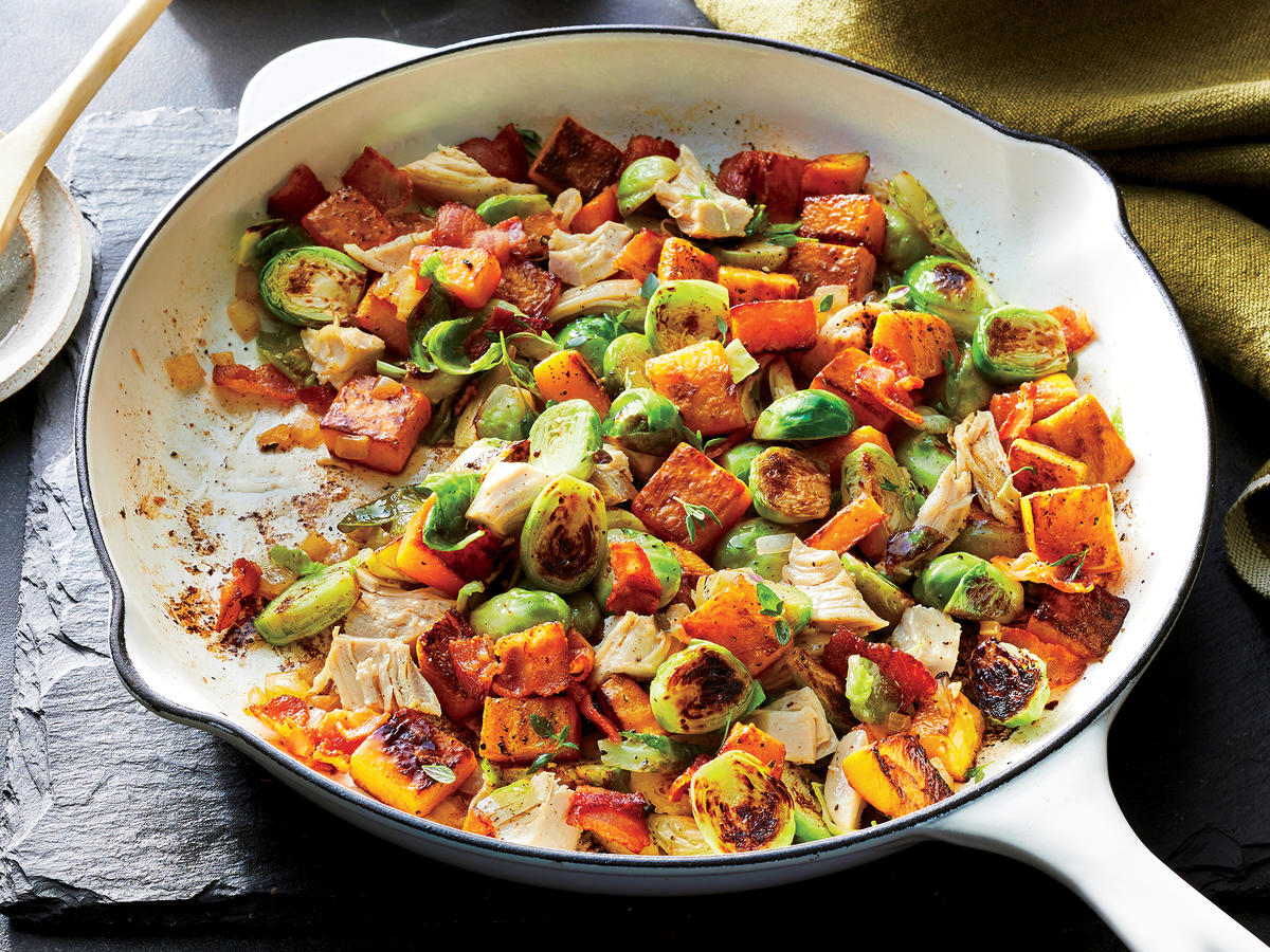 Easy Chicken and Butternut Squash Hash