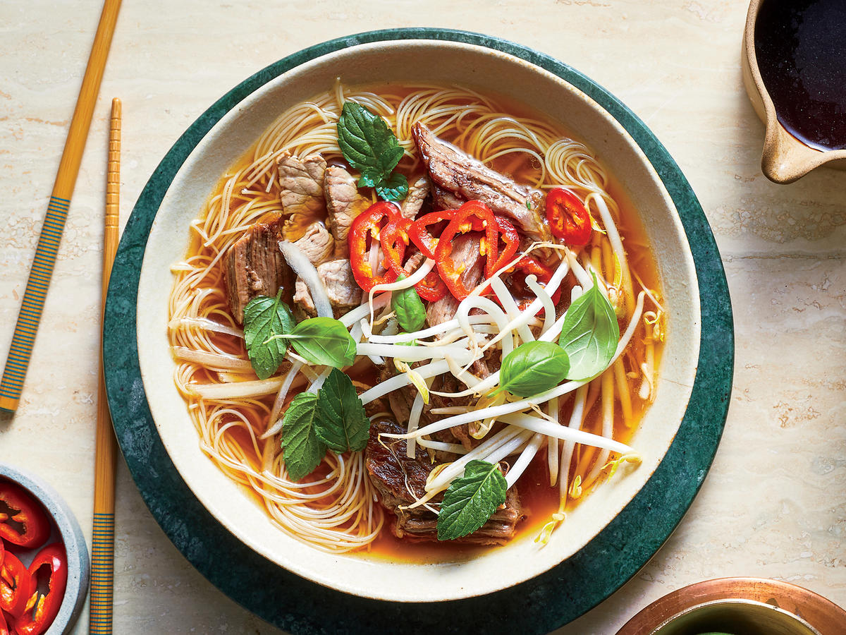 Pho Style Vietnamese Beef And Noodle Soup Recipe Cooking Light